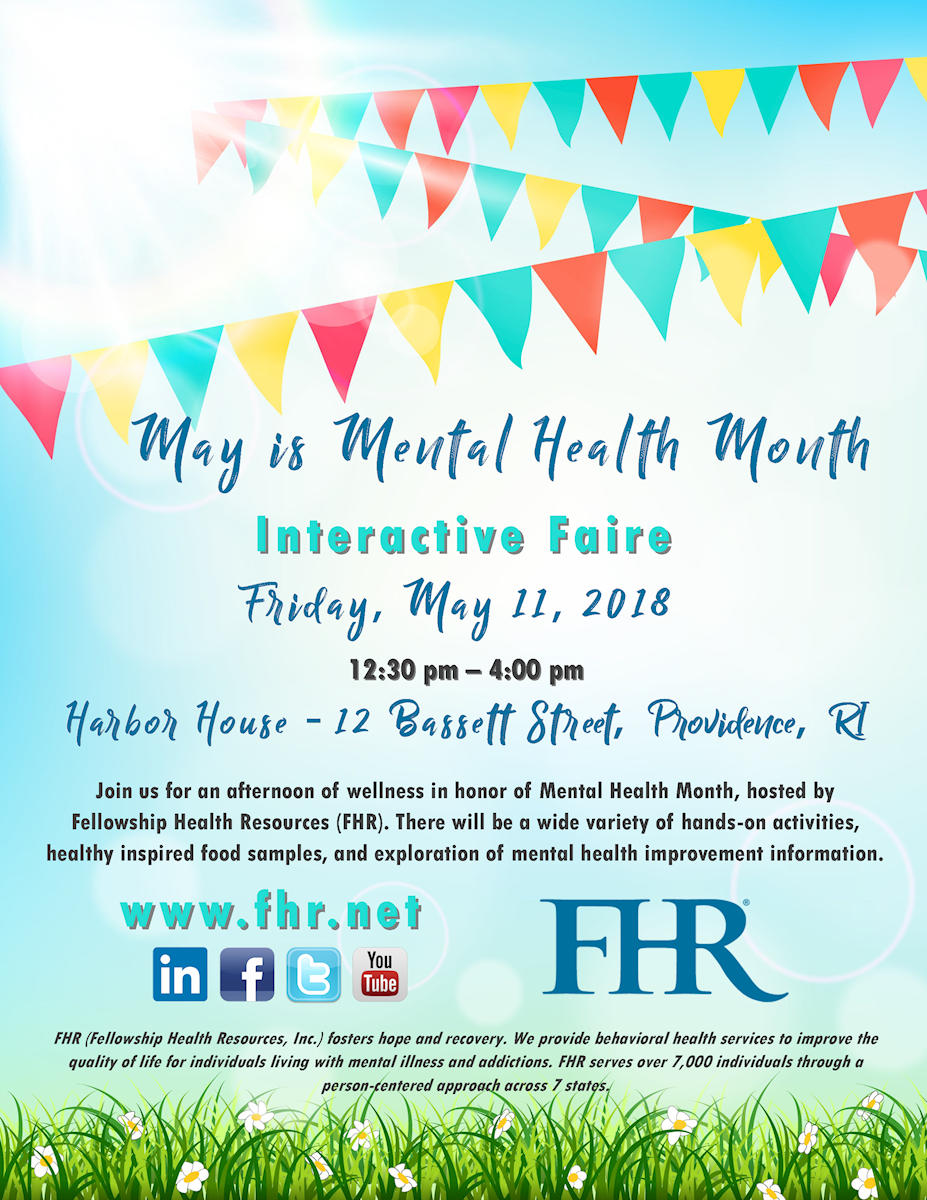 Fhr Join Us Ri May Is Mental Health Month Interactive Faire
